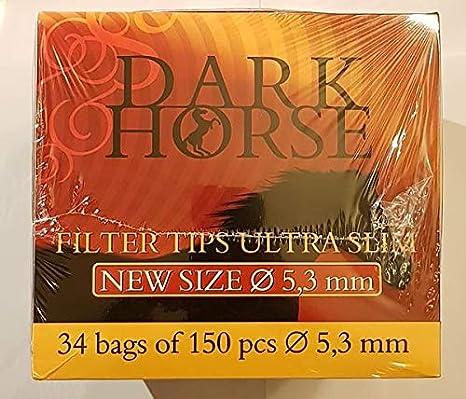 Amazon.com: Puntas de filtro para caballo oscuro de 0.209 in ...