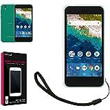 【 shizuka-will- 】 Softbank ソフトバンク Android One S3 専用 高透明 耐衝撃 衝撃吸収 ストラップ付 TPU ソフト クリア ケース カバー Y!mobile android one S3
