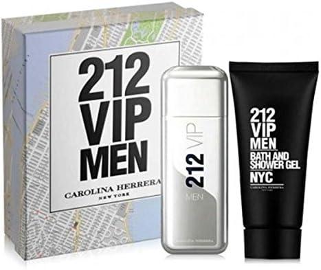 Carolina herrera 212 vip men eau de toilette 100ml vapo. + after shave 100ml + mini: Amazon.es: Belleza