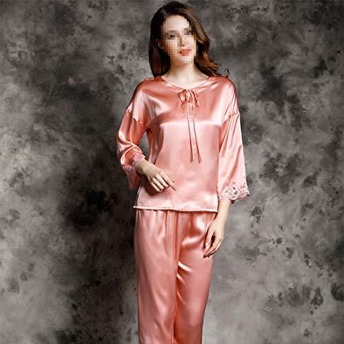 Pijamas Ropa 02 Size Conjunto Seda color Dormir Xl 03 xxl De Para Loungewear Satén Felicigg Mujer X qEw0Aaw