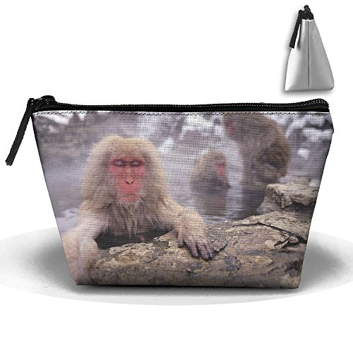 Makeup Bag Trapezoidal Storage Bag Monkeys Geysers Portable Cosmetic Bag Ladies Mobile Travel Bag ()