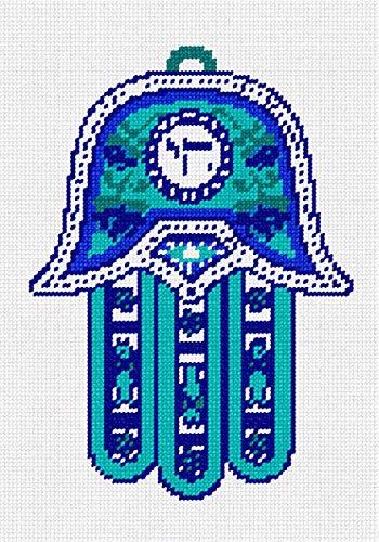 pepita Hamsa Chai Blue Needlepoint Kit ()