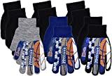 Polar Wear MVP Sports Warm Knit Glove Set in Blue Boys Winter Accessories