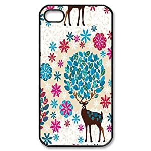 James-Bagg Phone case Animal Deer Protective Case For Iphone 4 4S case cover Style-5