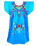 Embroidered Mexican Youth Girl Dress By Ethnic Identity