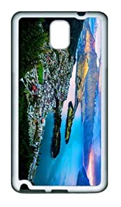 fancy covers queenstown new zealand wakatipu lake TPU White case/cover for samsung galaxy note 3 N9000