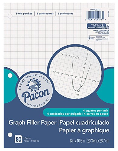 PACON GRAPH PAPER 1/4IN GRID RULING
