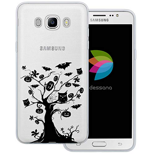 dessana Halloween Pattern Transparent Protective Case Phone Cover for Samsung Galaxy J7 (2016) Scary -