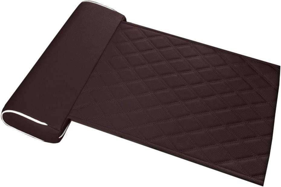 Leg Support Pillow PU Leather Lengthened Rest Wear Resistant Universal Buckled Office Auto Home Car Long Distance Driving All Season Seat Cushion Extended StandardBrown