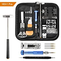 Watch Repair Tool Kit Professional 183Pcs Spring Bar Watch Band Link Pin with Carry Case by YISSVIC