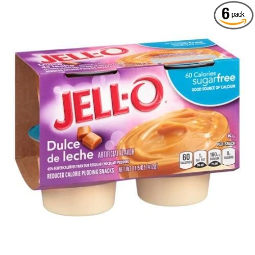 Jell O Sugar Free Dulce de Leche Pudding Dessert, 14.5 Ounce - 6 per case.: Amazon.com: Grocery & Gourmet Food