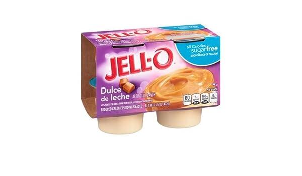 Jell O Sugar Free Dulce de Leche Pudding Dessert, 14.5 Ounce -- 6 per case.: Amazon.com: Grocery & Gourmet Food