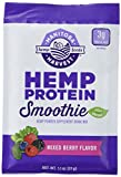 Manitoba Harvest Hemp Protein Smoothie Mix, Mixed Berry, 1.1oz (Pack of 12 Single Serve Packets); with 15g protein per Serving