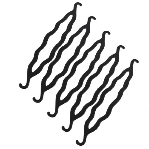 uxcell-5-piece-plastic-bun-maker-curler-hair-holders-black-85-inch-009-pound