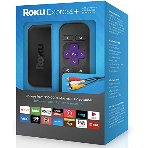 Roku Express+   HD Streaming Media Player, includes HDMI and Composite Cable