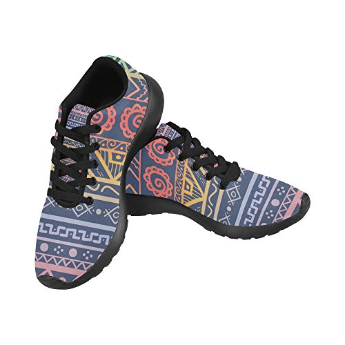 InterestPrint Womens Jogging Running Sneaker Lightweight Go Easy Walking Comfort Sports Athletic Shoes Multi 5 oLzyLT
