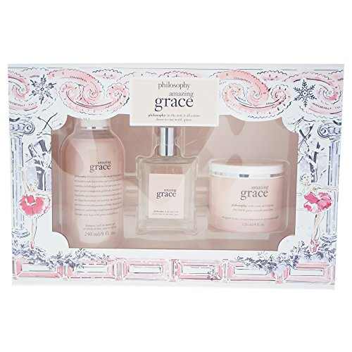 - Philosophy Amazing Grace Holiday Collection 3 Piece Gift