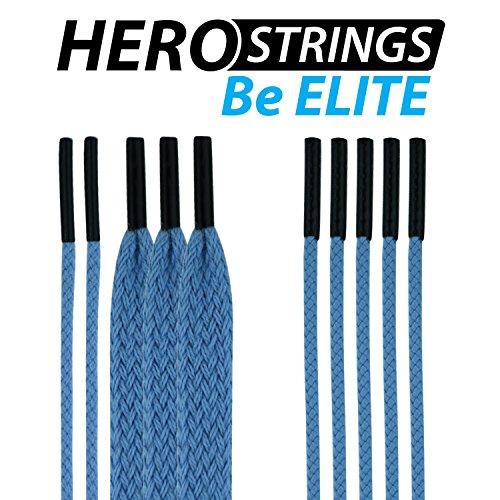East Coast Dyes (1-Pack) Lacrosse HeroStrings Pro Stringing Kit Carolina Blue HM-Strings-CarBlu-1P