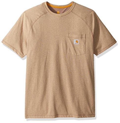 Carhartt Men's Force Cotton Delmont Short Sleeve T-Shirt (Regular and Big & Tall Sizes), Desert Heather, 2X-Large