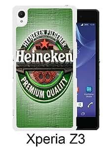 Best Sale Sony Xperia Z3 Case Heineken LOGO White Fashionable Sony Xperia Z3 Custom Case