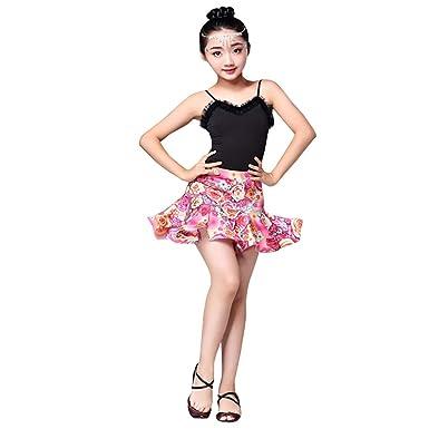 ZEVONDA Vestido de Baile Latino para Niños - Falda de Baile Latino ...