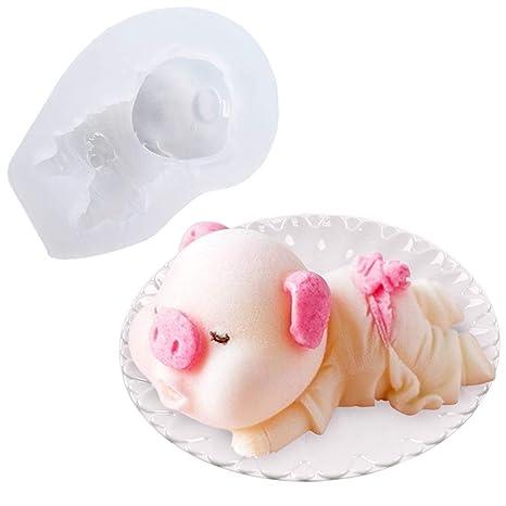 Silicone Molds Baby Pig Shape Cake Mold Fondant Molds - 3d Silicone Candle  Chocolate Mousse Pudding Ice Cream Soap Molding - DIY Cake Decorations