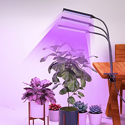 Grow Light for Indoor Plants-LDesign Plant Growing Lamp 315 LED 3 Heads Planting Lights Red Blue Spectrum 10 Dimmable Levels 3 Modes Timing Function (3/9/12 Hour Timer) Adjustable Gooseneck