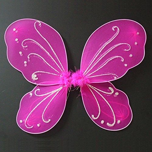 Butterfly Craze Fairy Butterfly Wings Party Favor (hot (Pink Fairy Wings)