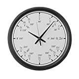 CafePress – Trigonometry V2 (Rad/Deg) – Large 17″ Round Wall Clock, Unique Decorative Clock Review
