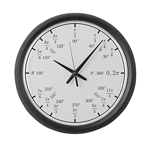 CafePress – Trigonometry V2 Rad Deg – Large 17 Round Wall Clock, Unique Decorative Clock