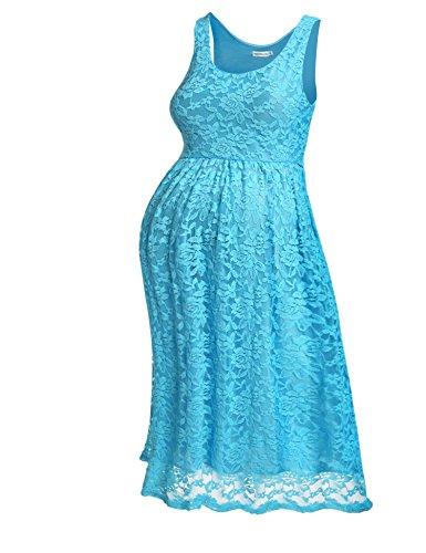 Sleeveless Pleated Maternity Dress - 6