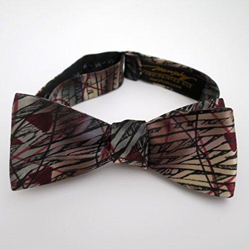 100% Silk Hand-Painted Hand-Made Men's Self Tie Bow Tie ''Autum'' Art to Wear by Murphyties by Murphyties Inc.