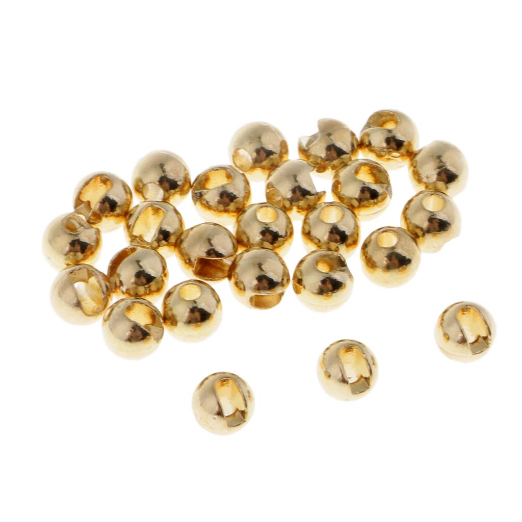 25pcs Tungsten Slotted Beads,5 Sizes Assortment,Fly Tying,Fishing Ball Beads