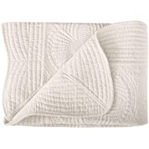 "Lightweight All Weather Embossed Detail Cotton Baby Coverlet 36"" x 48"""