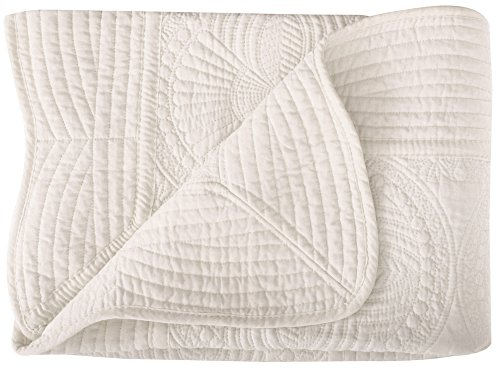 ASHOPZ Lightweight All Weather Embossed Detail Cotton Baby Coverlet 36