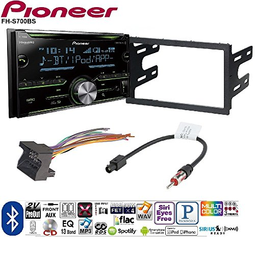 - Pioneer Double DIN CD Receiver Built-in Bluetooth, and SiriusXM-Ready Car Radio Stereo Double Din Dash Kit Harness for 2002-07 VW Jetta Golf Passat