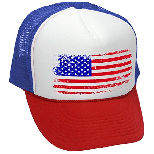 5470fac5a3b4e Review - 6 Panel Mesh American Flag White Patch Cap - White W38S61E. By  OTTO $$$. 7.2. rating. American Flag Vintage Patriotic Trucker