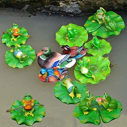 GAC Esculturas de jardín – 1 Pieza de Resina Flotante Ranas Tortuga Estatua jardín Estanque decoración al Aire Libre Dibujos Animados Animal Escultura para decoración de jardín Adorno, 013: Amazon.es: Jardín