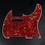 Custom Guitar Pickguard For G&L ASAT Classic USA ,4ply Red Tortoise
