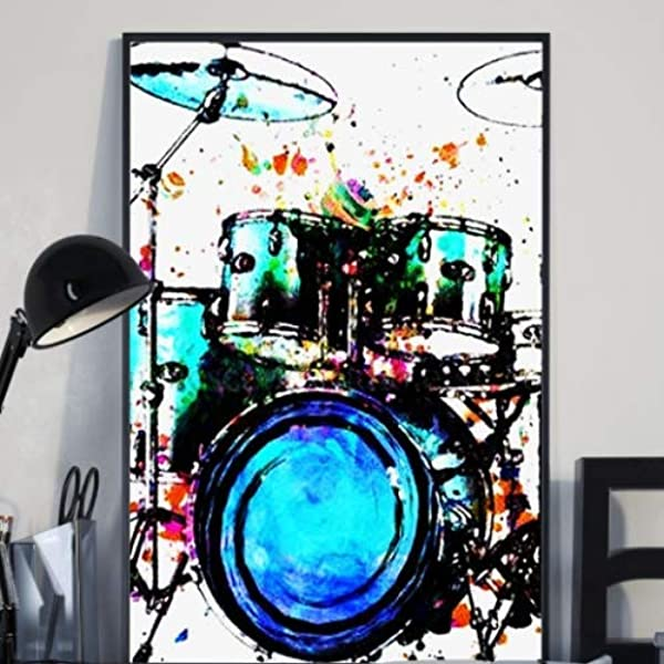 Cymbal Blueprint Drummer Decor Ride Cymbal Poster Print Musician Gift Drum Art Print Drummer Gift Cymbal Design Percussionist Gift