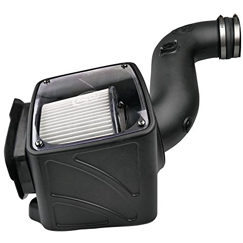 S&B Filters 75-5080D Cold Air Intake Kit for 2006-2007 Chevy/GMC Duramax LLY-LBZ 6.6L (Dry Extendable Filter)