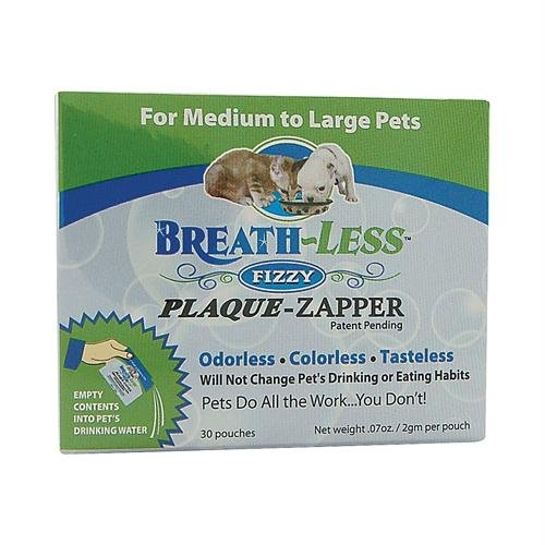 Ark Naturals Breath-Less Plaque Zapper Fizzy for Medium to Large Pets, 100mg, 30 Packets by Ark Naturals