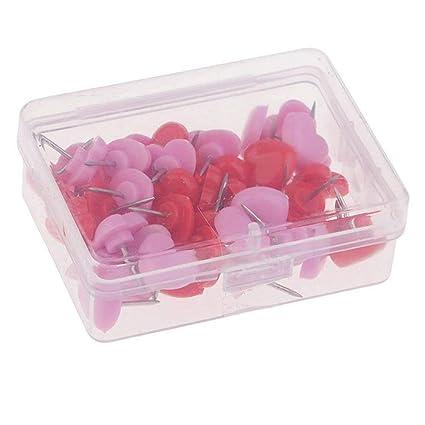 LUCHA - Pasadores de plástico con Forma de corazón para Manualidades, Corcho, Caja de
