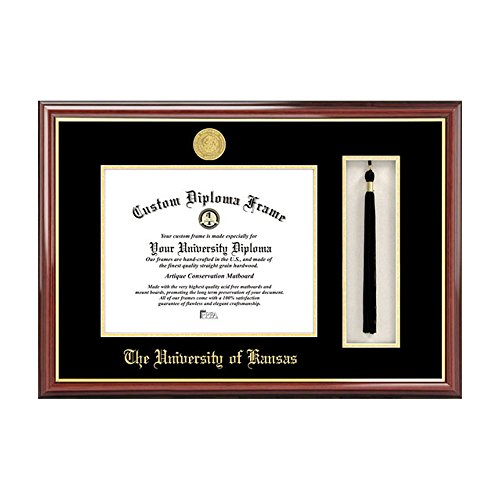 Campus Images NCAA University of Kansas Tassel Box and Diploma Frame by Campus Images