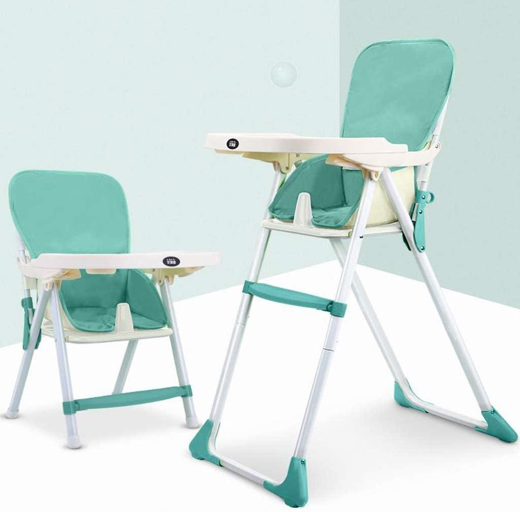 ベビーチェアハイチェア子ども椅子子供お食事椅子 2イン1幼児ポータブル折りたたみハイチェアベビーフィード多機能取り外し可能なダイニングチェア付き安全ハーネスと取り外し可能なトレイ (Color : D)