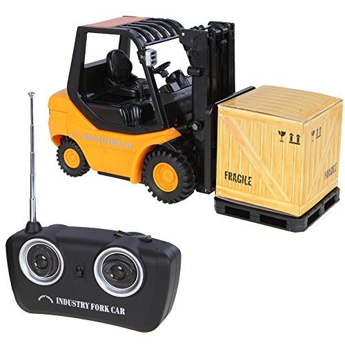 Pellor New Mini RC Toy Forklift Radio Remote Control Truck Car Gift Toys For Kids (Yellow)adio Remote Control Truck Car Gift Toys