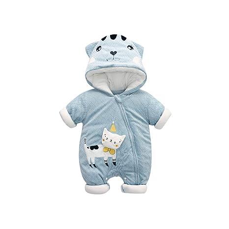 Saco de dormir para bebé unisex – Manta gruesa de algodón para llevar lindo gato Onesies