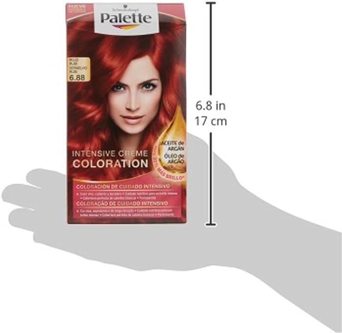 Palette Intense Color Cream Coloración Permanente, Tono 6.88 - 115 ml