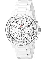 Invicta Womens S1 Rally Quartz Ceramic Casual Watch, Color:White (Model: 22422)