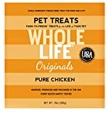 Whole Life Pet Single Ingredient USA Freeze Dried Chicken Breast Treats Value Pack for Dogs and Cats - 10-Ounce